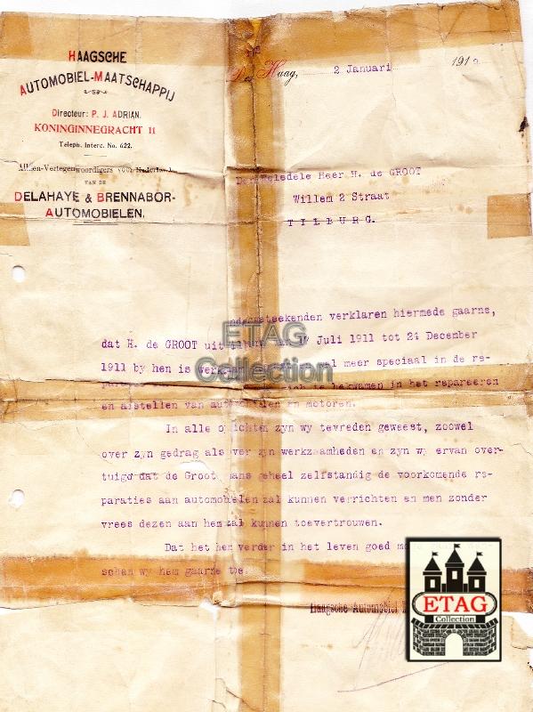 Chevrolet Dealers In Sc >> Eerste Tilburgsche Automobielen Garage M.J. de Groot & Zoon 1890-1980